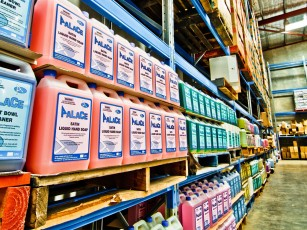 Alpha Cleaning Supplies warehouse